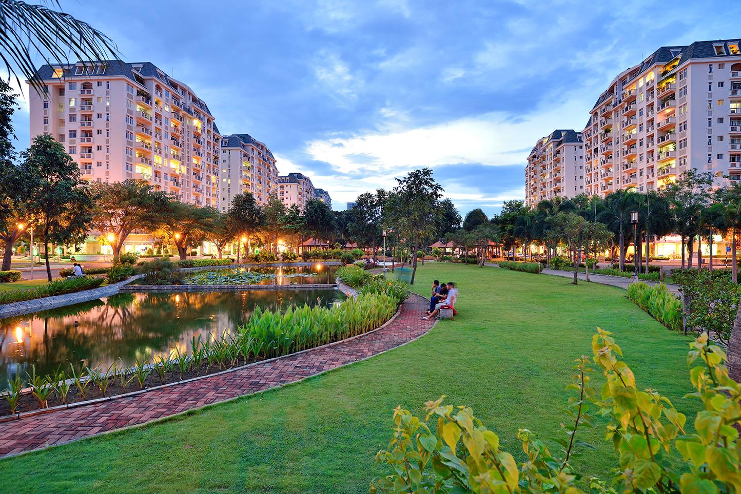 The long park at The Southside District - 5 cụm đô thị do Phú Mỹ Hưng phát triển