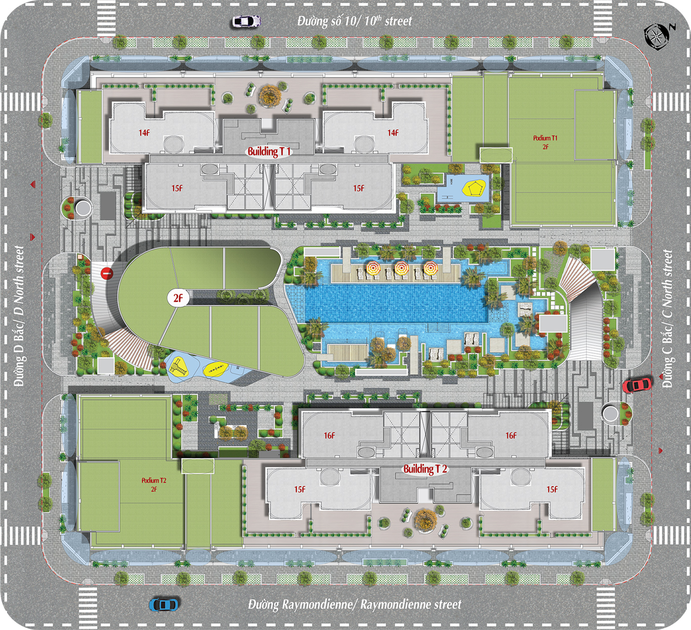 Mặt bằng dự án căn hộ Cardinal Court Phú Mỹ Hưng