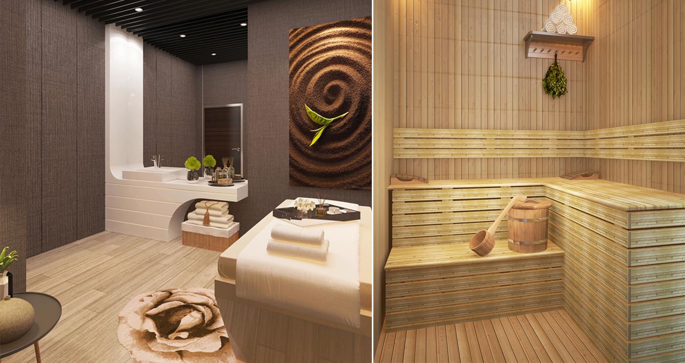 Phòng Massage và Sauna