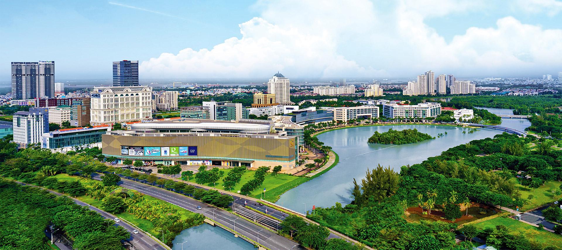 khu crescen - Phú Mỹ Hưng - Đô thị xanh từ quy hoạch đến vật liệu