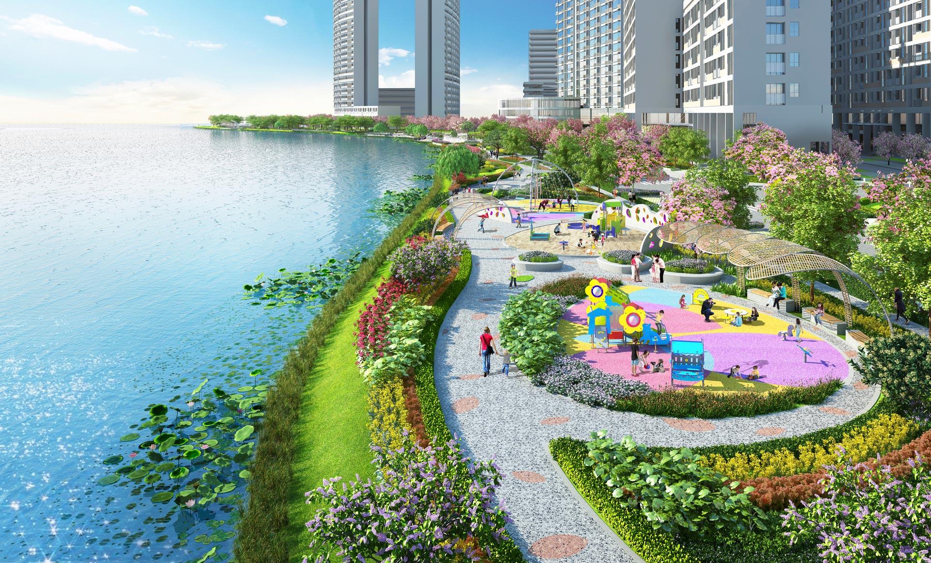 Khi hoàn thành, Sakura Park được kỳ vọng sẽ trở điểm đến hấp dẫn mới của TP.HCM