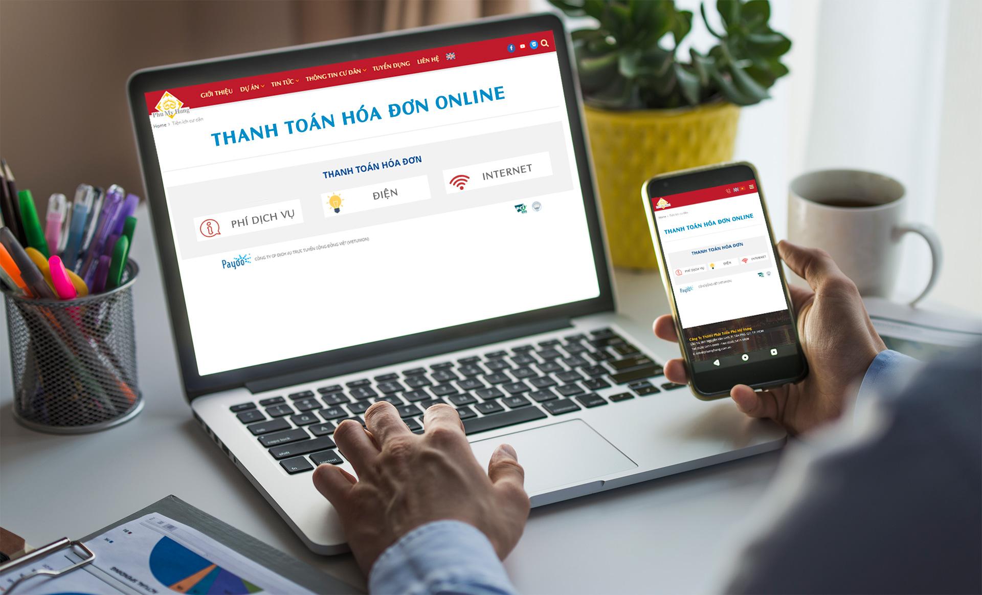 Pay bills for Phu My Hung Service fee