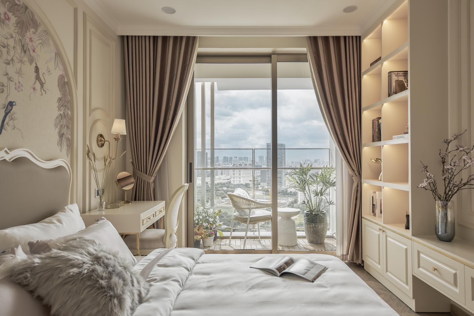 Cân bằng giữa công năng - thẩm mỹ là yếu tố mà căn hộ mang phong cách Eclectic áp dụng. (Ảnh: căn hộ tại dự án The Peak)