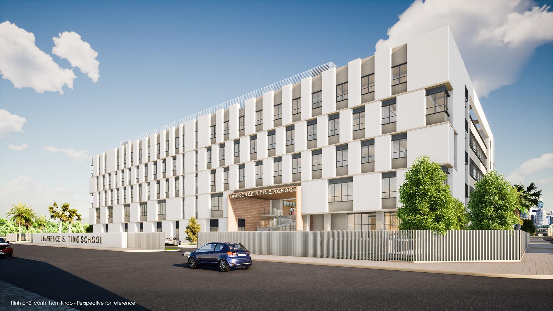 """Trường Đinh Thiện Lý mở rộng được thiết kế theo mô hình như một """"campus"""" thu nhỏ"""