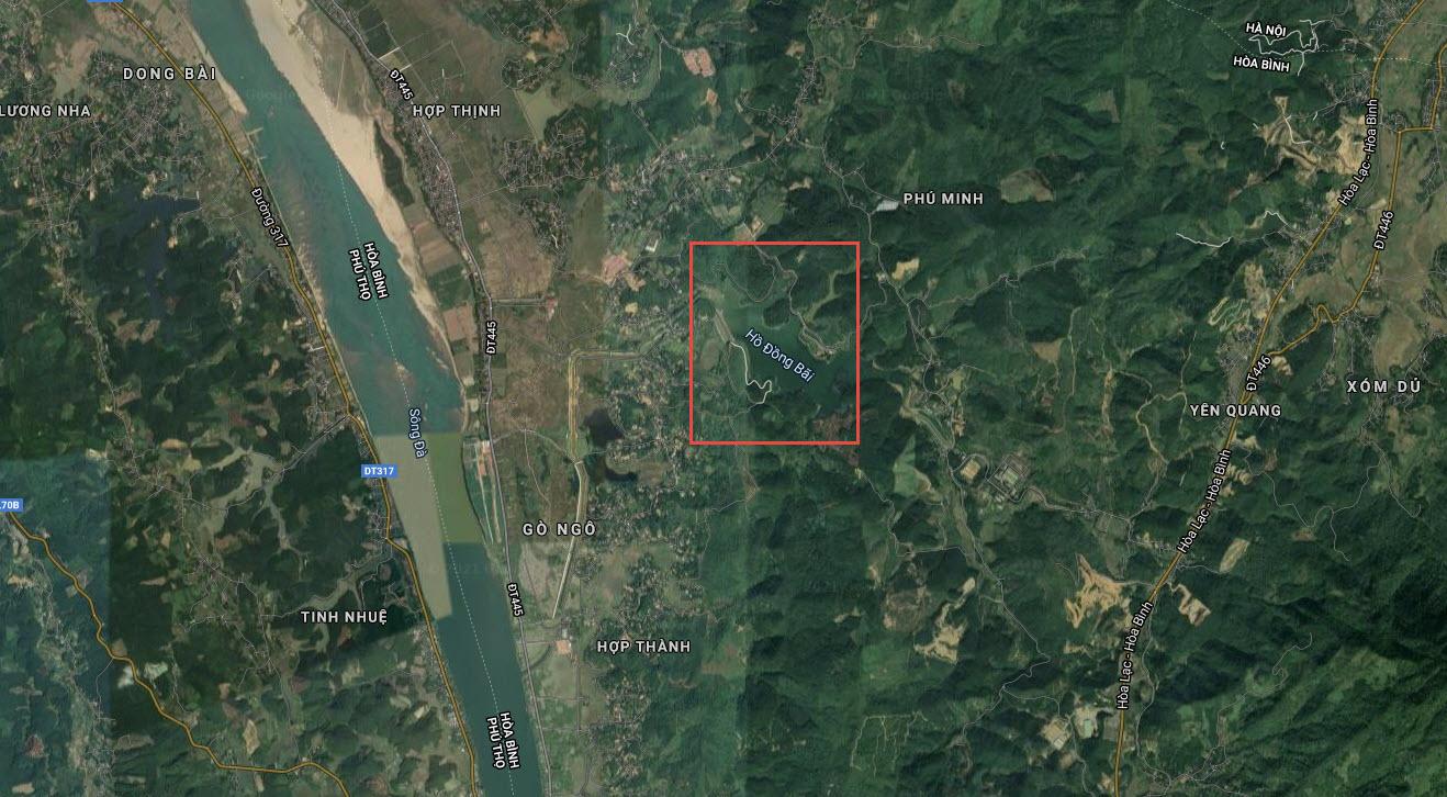Dự án rộng 405ha Phú Hưng Khang được phát triển nằm gần Hồ Đồng Bài tỉnh Hòa Bình.