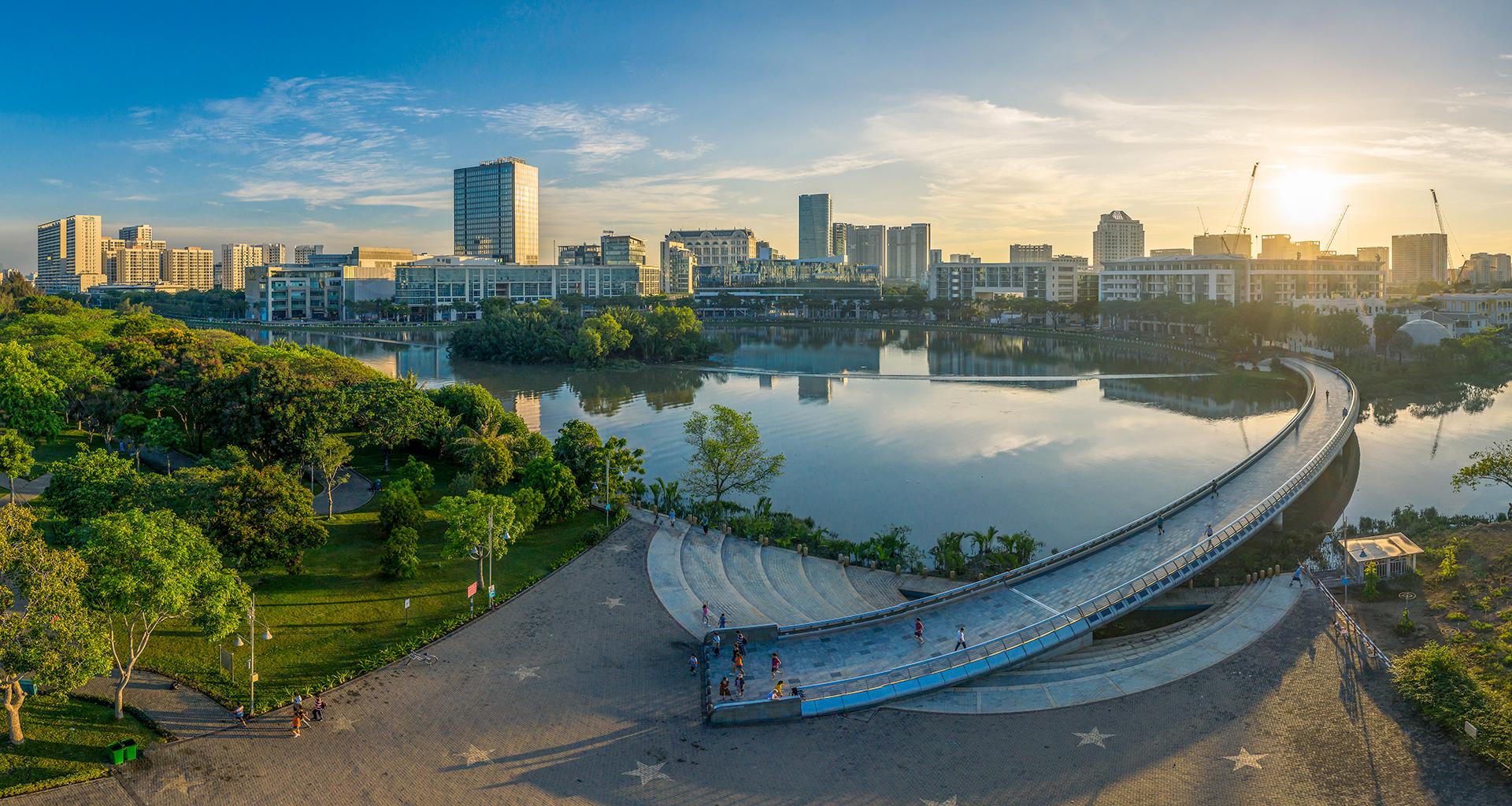 Những góc nhỏ trong khu đại đô thị Phú Mỹ Hưng.